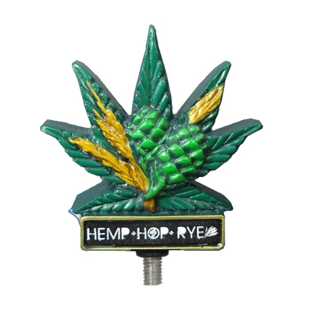 Hemp Leaf Shape Beer Tap Handle