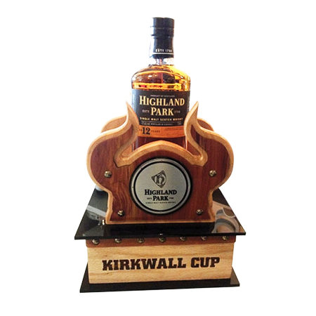 Whiskey Bottle Wood Display