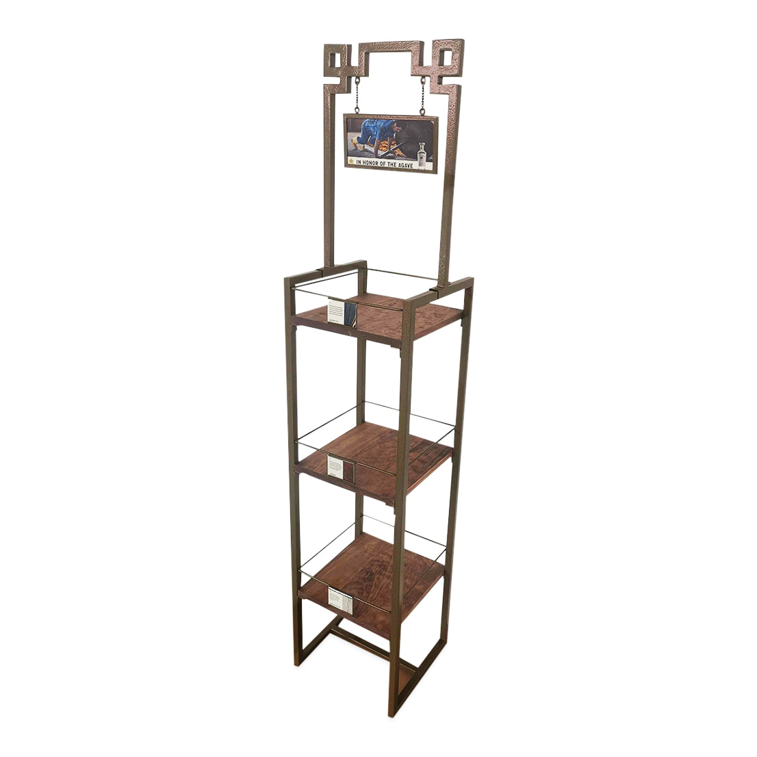 Metallic Beverage Rack