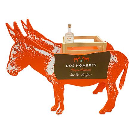 Donkey Shaped Wood Bottle Display