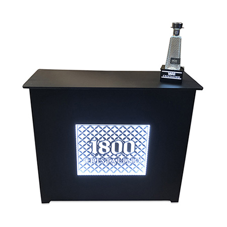 LED Wood Display Table