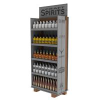 Long-custom-liquor-display