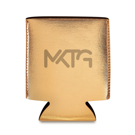 Custom Gold Colored Koozies
