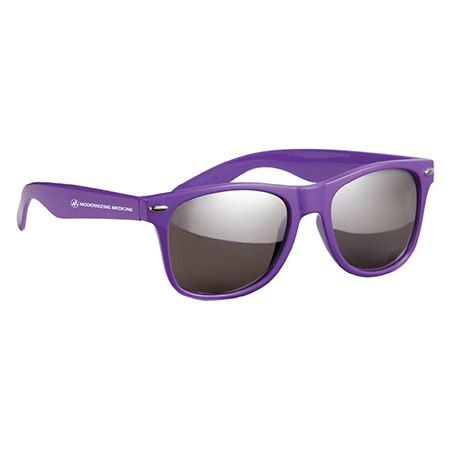 Purple Mirrored Sunglasses