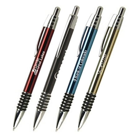 metal pens with rubber grips