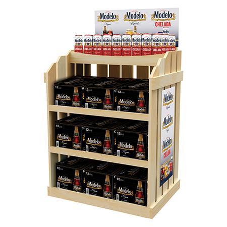 Modelo Wood Beer Rack Display