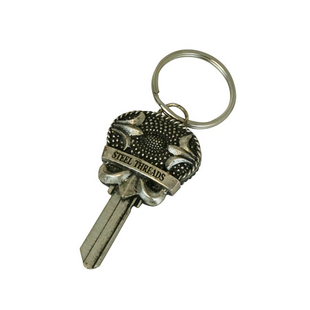 metal key keychain