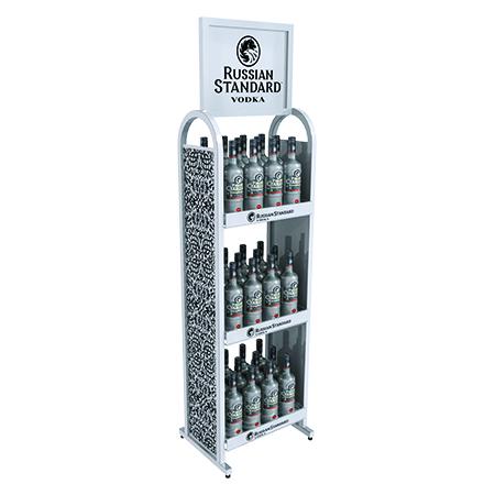 Metal Liquor Rack Display