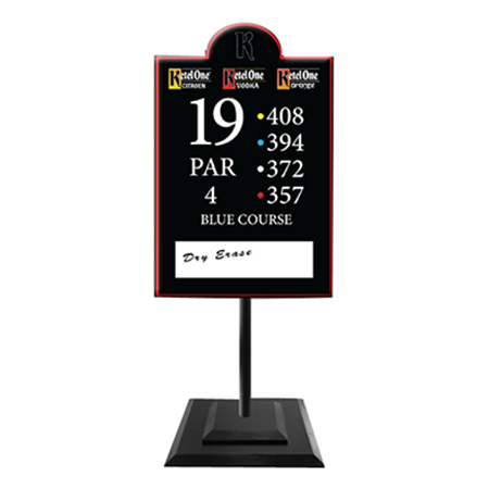 Standing Acrylic Dry Erase Sign