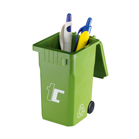 Recycling Bin Shaped Desktop Pen Holder