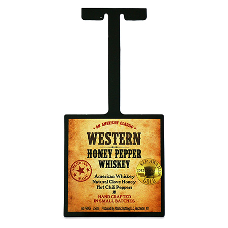Whiskey Shelf Wobbler