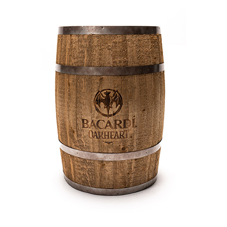 Whiskey Barrel Display