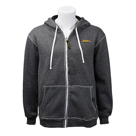 full zip heathered hoodie