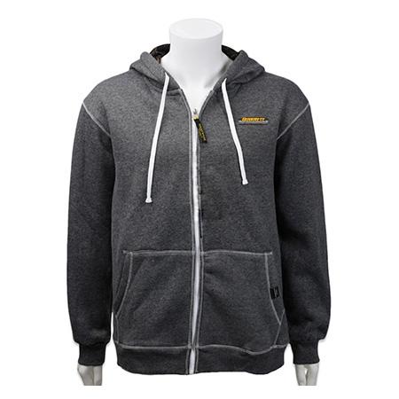 full zip heathered hoodie