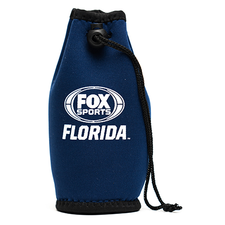 sports drawstring pouch koozie