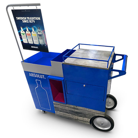 Absolut-bar-cart