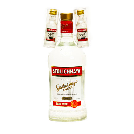 Stoli Vodka Double Pack Bottle Hitchhiker