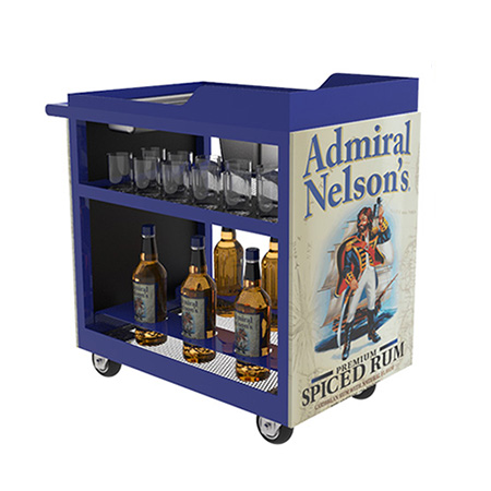 Mobile Display Bar Cart