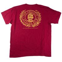 Captain-morgan-one-color-screen-print-tee-shirt-mens-red-back