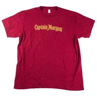 Captain-morgan-one-color-screen-print-tee-shirt-mens-red-front
