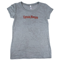 Captain-morgan-screen-printed-ladies-burnout-crew-metallic-gold