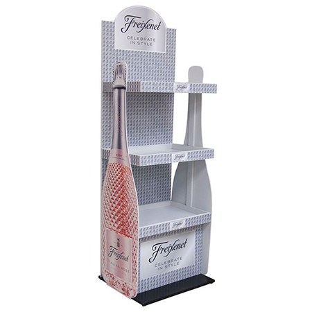 Cardboard Bottle Display Stand