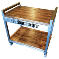 Custom-liquor-cart-display