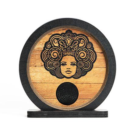 Custom Wood Speaker with Printed Logo