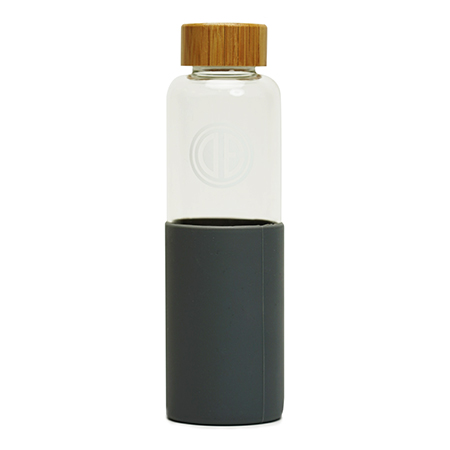 Promotional Glass Water Bottle with Wood Twist Cap