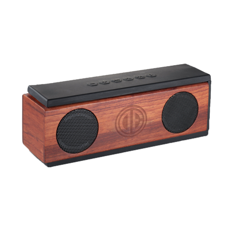 engraved wooden bluetooth speaker