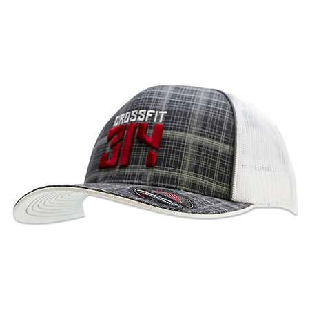 plaid trucker hat