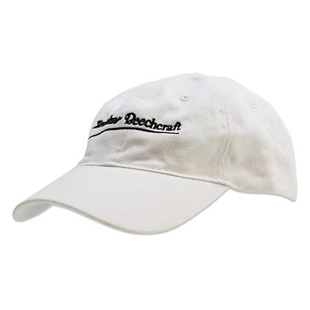 embroidered white hat