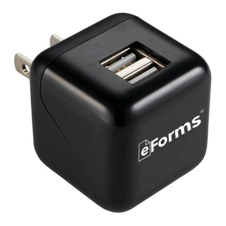 dual port wall charger box