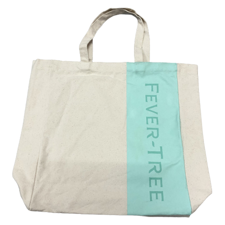 Green Striped Fever-Tree Canvas Tote