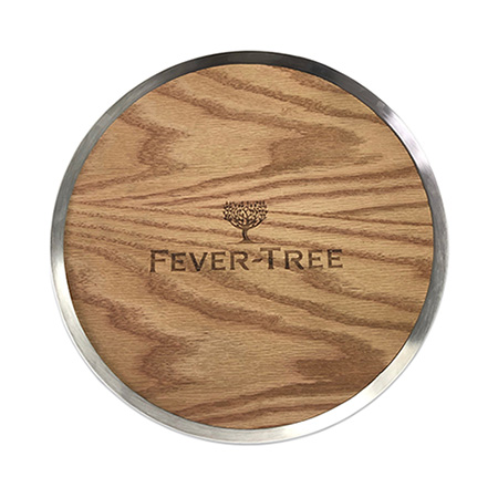 Fever-Tree Wood and Metal Serving Tray