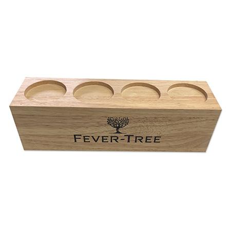 Fever Tree Wood Bottle Display