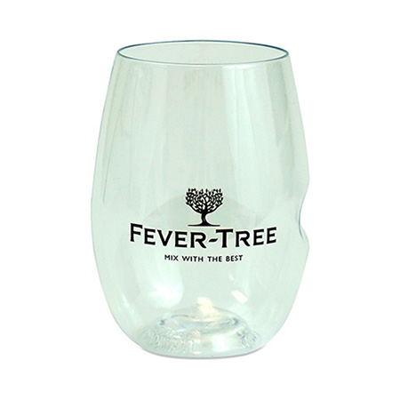 Thumb Imprint Plastic Stemless Wine Glass