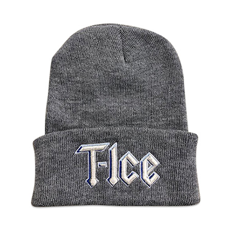 Embroidered Grey Beanie