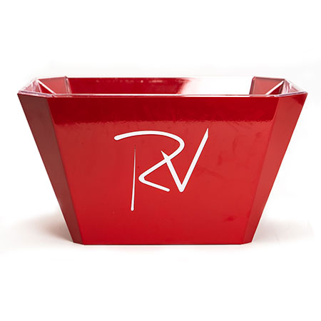 Red Ice Bucket