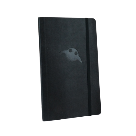 embossed desktop and office notebook