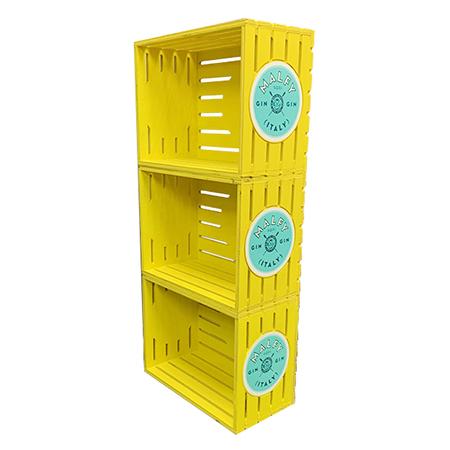 Wood Crate Floor Display
