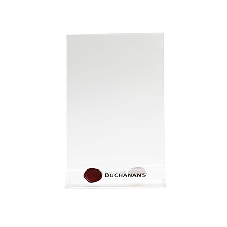 'Buchanan's' Acrylic Menu Holders