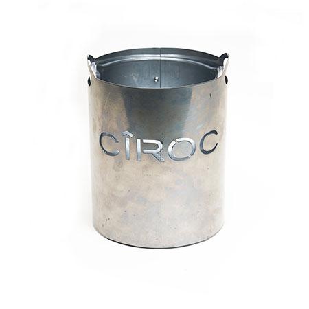 Circular Metal Ice Bucket
