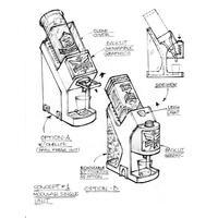 Original-hand-sketch-of-shot-dispenser