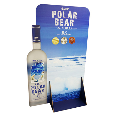 Polar Bear Vodka Corrugated Display
