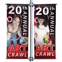Pole-banner