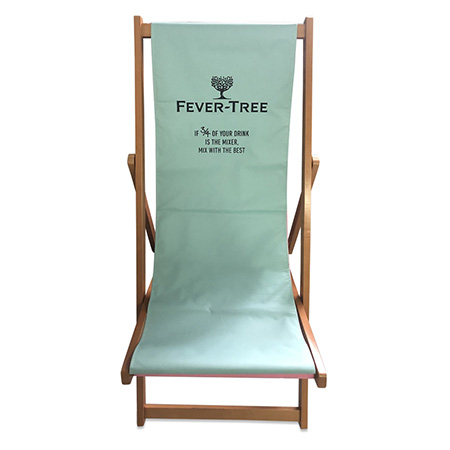 Printed Canvas Lounge Chair