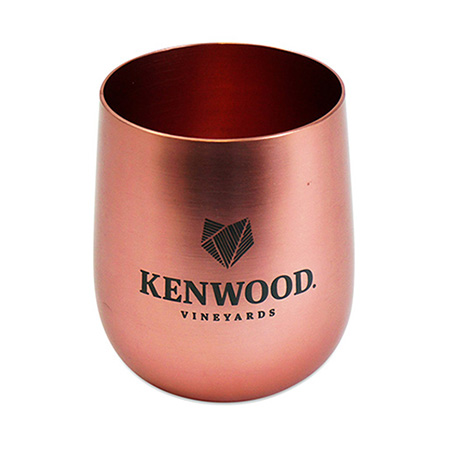 Rose Gold Stemless Wine Glass