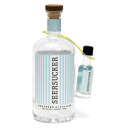 Seersucker Gin Bottle Hitchhiker