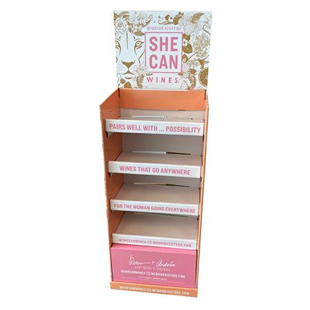 She Can Corrugated Shelf Display